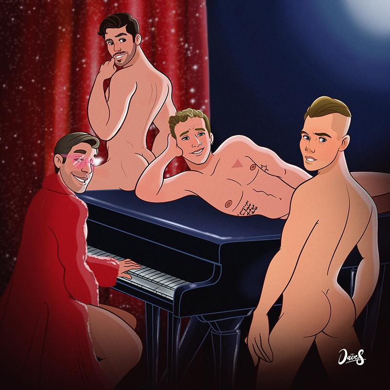 Naked boys show